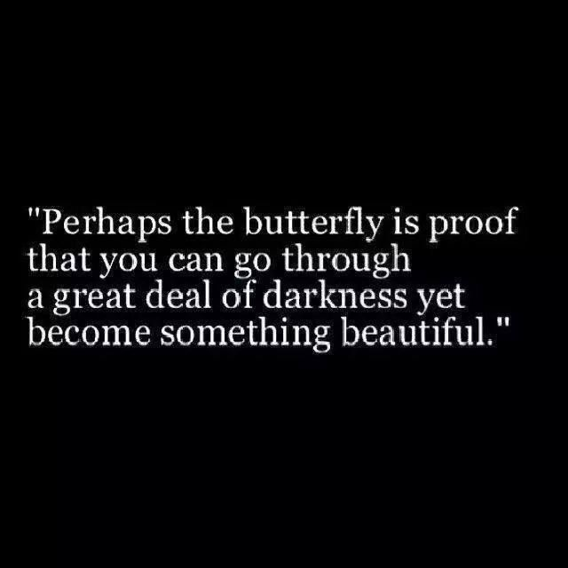 Maybe this is why the butterfly is the symbol for Lupus and Fibro. Good things CAN evolve from struggles.