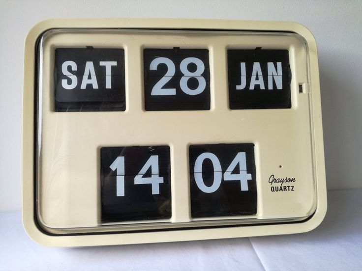Grayson Bank, Post Office  Large Flip Clock 1980's Cream Fully tested and good time keeping. Vintage  Retro by MWKIRKonETSY on Etsy