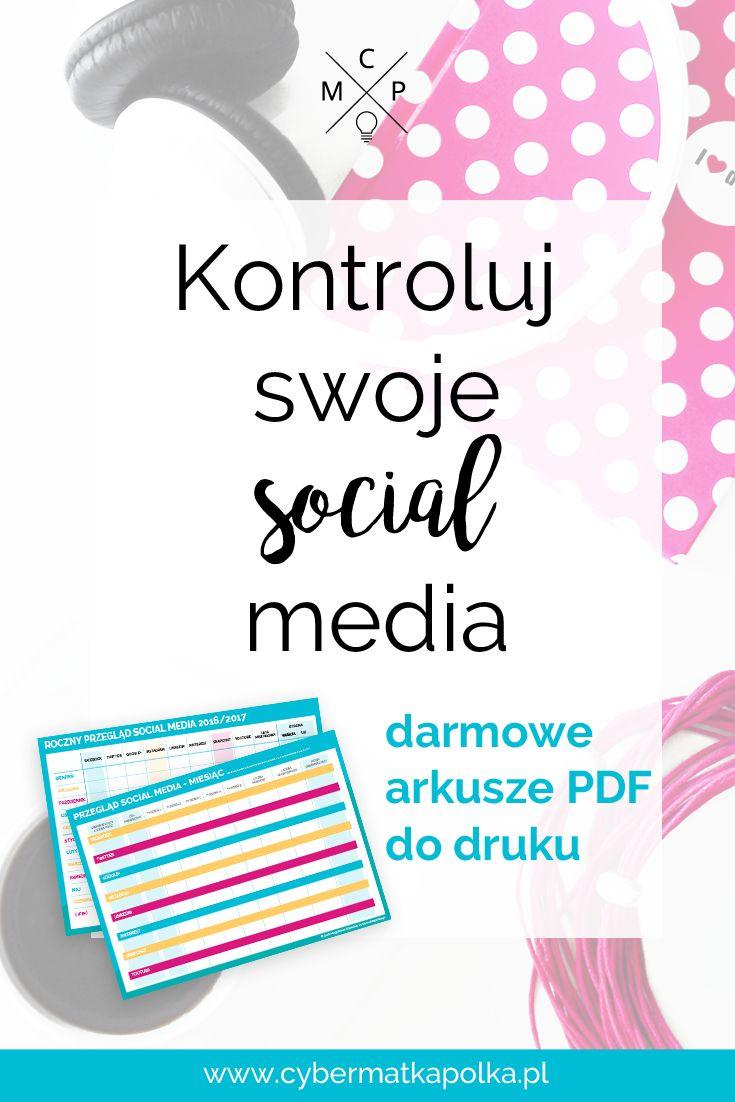 Kontroluj swoje social media wraz z darmowymi arkuszami do druku   social media tracking printables cybermatkapolka.pl