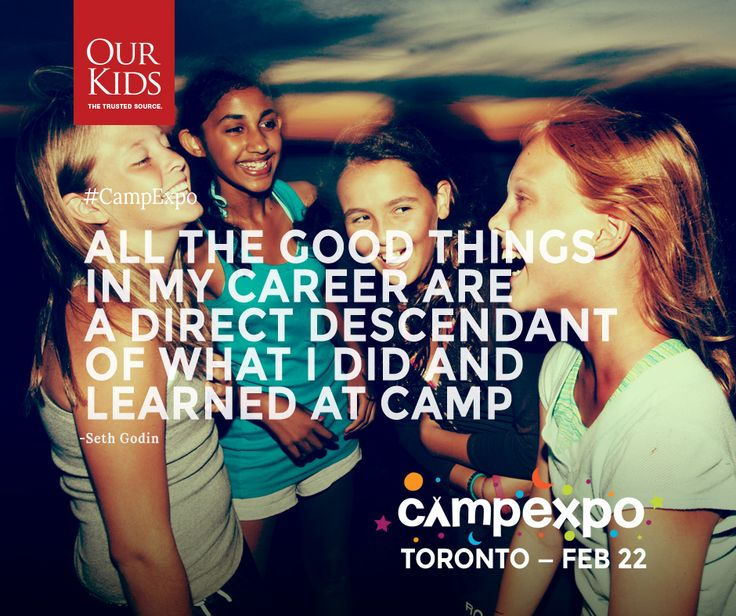 """""""All the good things in my career are a direct descendant of what I did and learned at camp"""" - Seth Godin. Read more about Seth's experience here: http://www.ourkids.net/camp/seth-godin-camp-arowhon.php  www.campexpo.ca"""