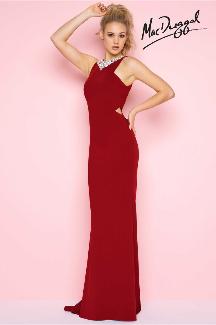 81 best Red Prom Dresses images on Pinterest | Red bridesmaid gowns ...