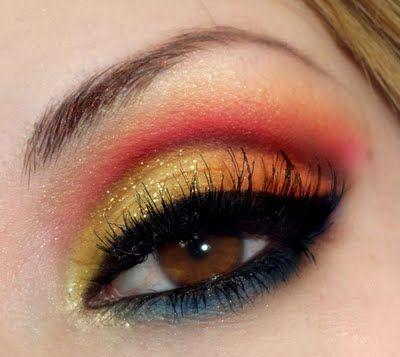 """""""Girl on Fire"""" Hunger Games-inspired eyes."""