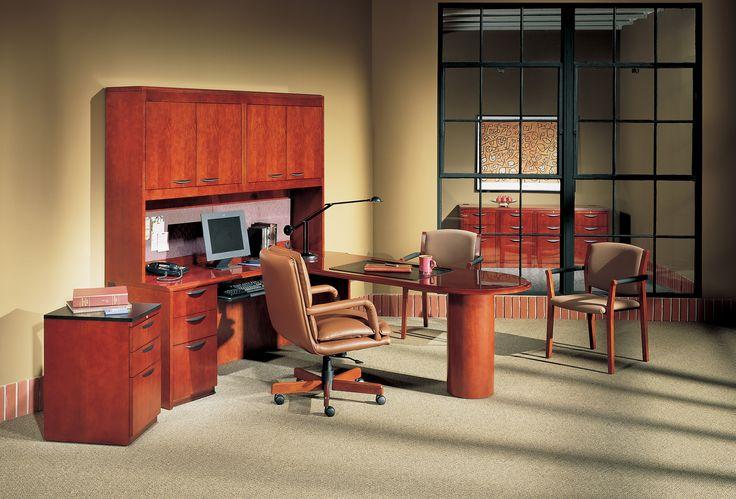 Paoli Chambers Modular Wood Office Furniture In Cherry