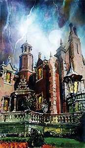 Walt Disney World - Haunted Mansion - Ghoulish Delight - Jim Salvati - World-Wide-Art.com - $450.00 #Disney #JimSalvati #WDW