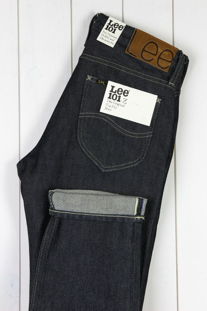 NEW LEE 101Z 15Oz HEAVY DRILL SELVAGE DRY/RAW DENIM JEANS L32/L34 ---All Sizes--