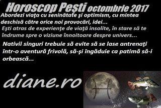 În horoscopul Peştilor octombrie 2017 precumpănesc spontaneitatea şi orientarea spre demersuri neobişnuite, ieşite din comun ale lumii, şi s...
