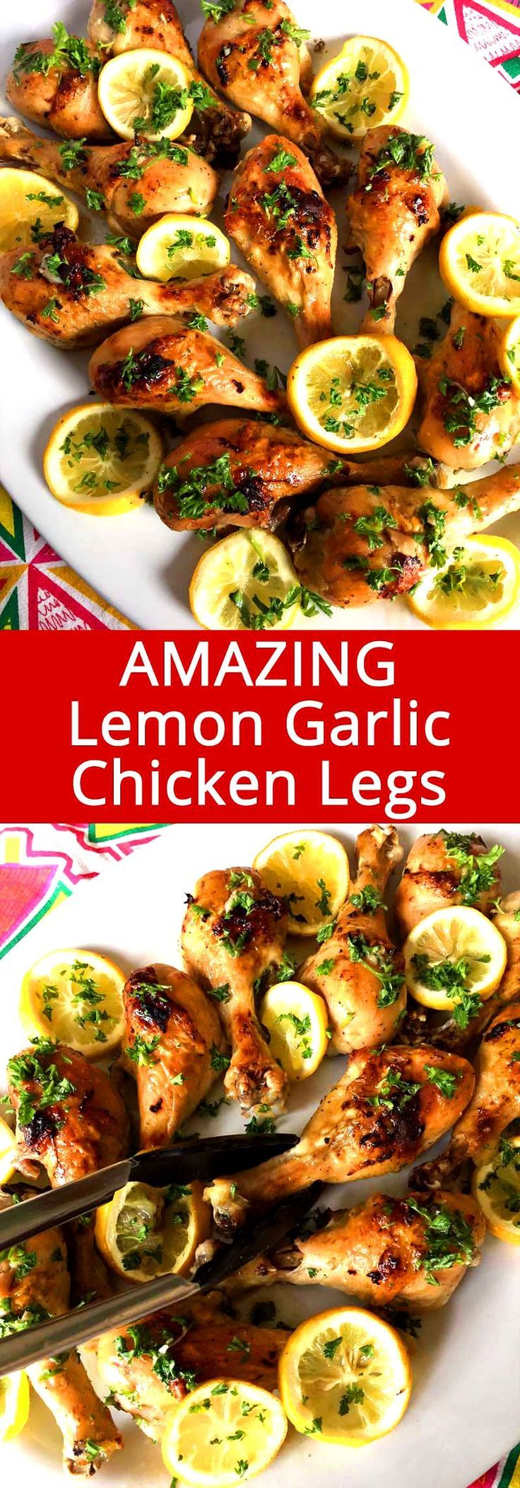 These baked lemon garlic chicken legs are truly amazing! So easy to make and everyone loves them!