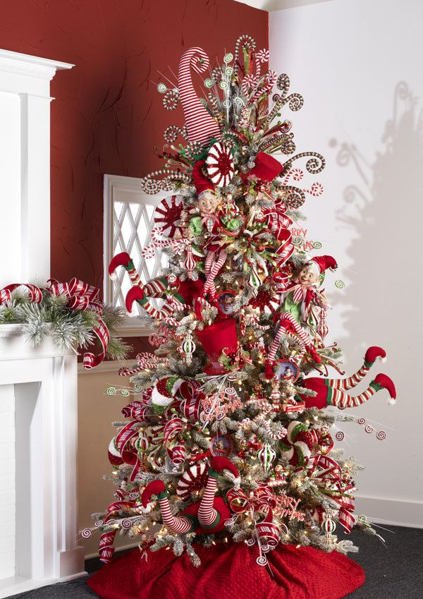 Shelley B Home and Holiday - RAZ Peppermint Toy Decorated Christmas Tree  Find ornaments and florals to create your own tree by visiting this page in our online store.  http://shelleybhomeandholiday.com/shop-by-brand/raz-imports/raz-christmas/raz-christmas-2015/raz-peppermint-toy/