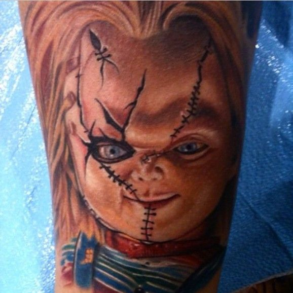 chucky chucky tattoos pinterest dolls doll tattoo and creepy dolls. Black Bedroom Furniture Sets. Home Design Ideas