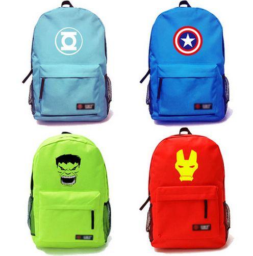 The Avengers Hulk Captain America Iron Man logo backpack