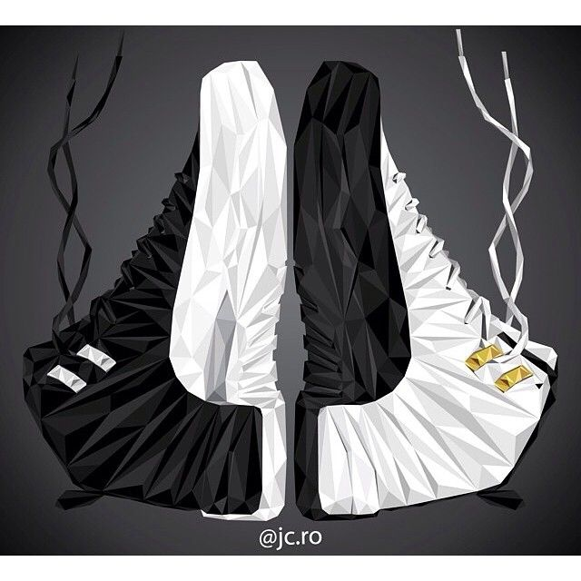 This illustatrion of Jordan 12's 'Playoff' (left) 'Taxi' (right) was done by…