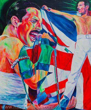 """Saatchi Art Artist Margarita Kriebitzsch; Painting, """"Freddie Mercury - Portrait"""" #art"""
