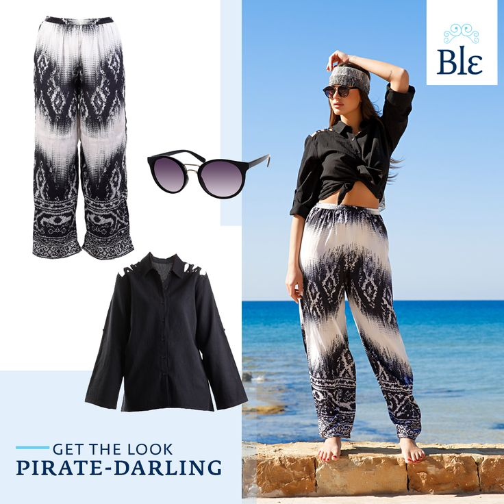 In fond of the eccentric charm of pirates? Twist your shirt above the belt area, go for long & loose pants and tie your favourite scarf around your head. Aye-aye captain!  Get the look here www.ble-shop.com