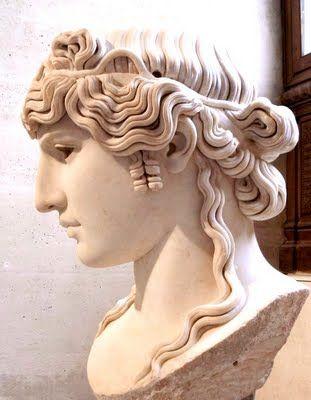 Busto romano,de Antinous  Museo del Louvre