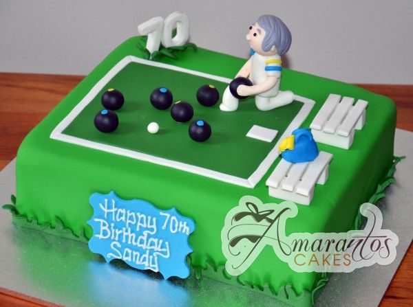 Bowling Th Birthday Cake Airbrush