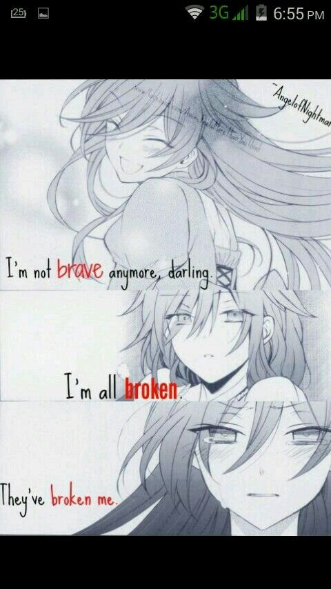 They... broke.. her... heart...