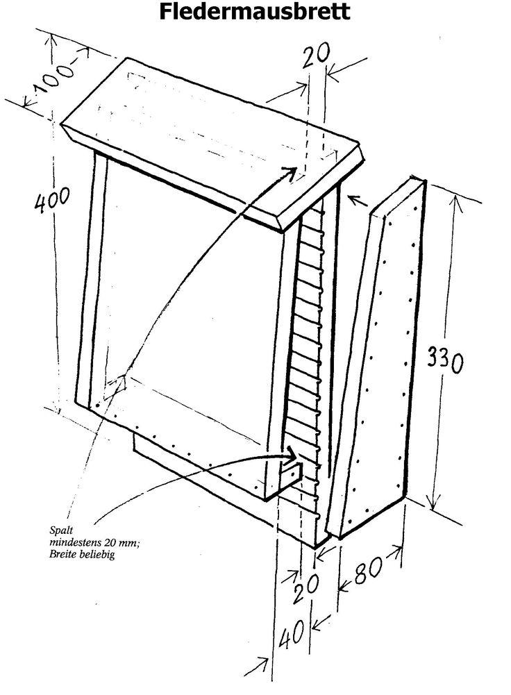 Fledermausbrett plan pour nichoir chauves souris for Plan pour jardin