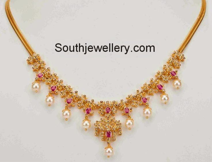 uncut diamond necklace
