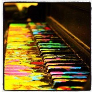 piano pianoPainting Piano, The Piano, Colors, Rainbows, Old Piano, Piano Keys, Art Installations, Floor Art, Art Music