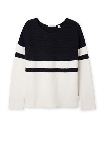 Block Stripe Sweater