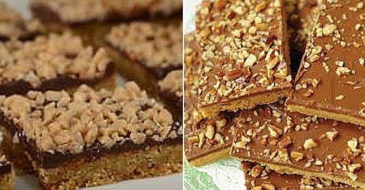 Expresní máslové řezy s čokoládou a ořechy | Čarujeme