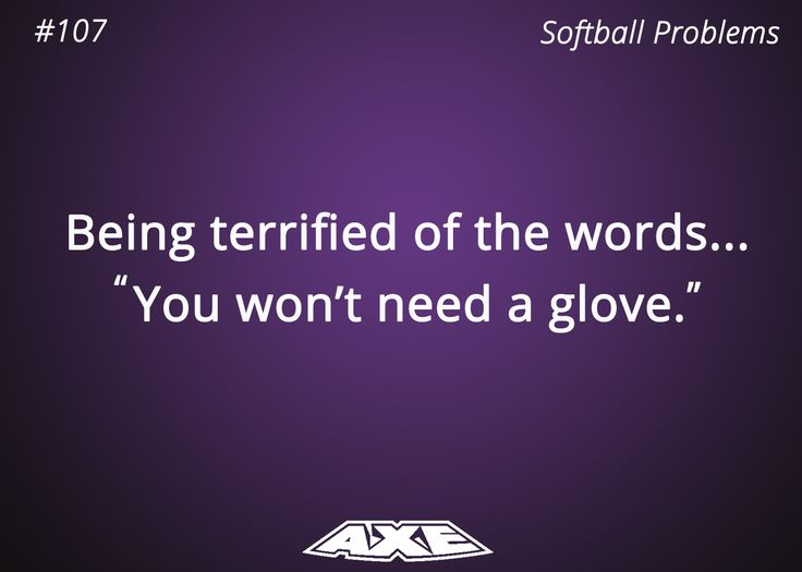 Softball Problems
