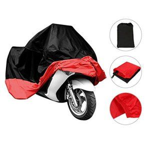 Besmall Bâche MOTO velo Housse de protection Étanche anti-poussière anti-UV pour Moto Couleur Rouge/noir Taille XXL: Black Friday,Cyber…