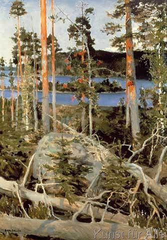 Akseli Gallen-Kallela - Lake in the Wilderness