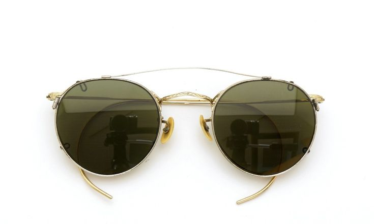 American optical [1940's HIBO GOLD WITH WHITE GOLD WWII ARMY CLIPON]