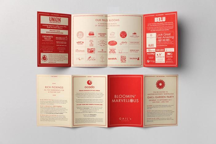 2 Tone Layout Design (Brochure style) // Gail's Bakery by here ...