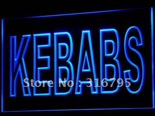 i639 Kebabs Cafe Enseigne Lumineuse LED Neon Light Sign On/Off Swtich 20+ Colors 5 Sizes
