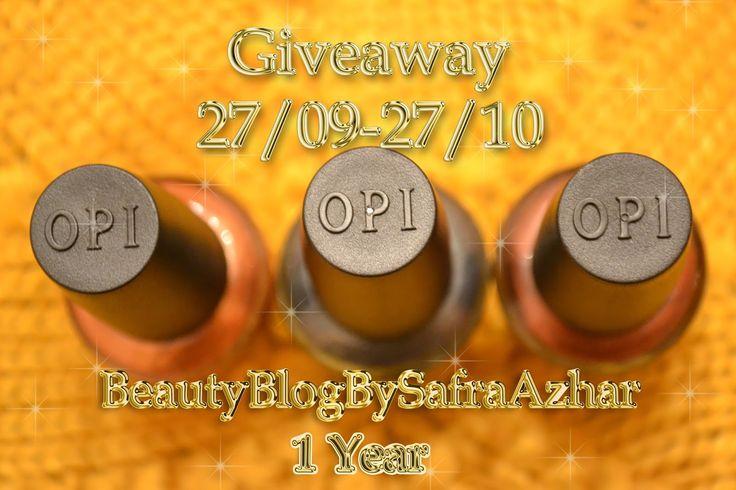 Beauty Blog by SafraAzhar: Giveaway в моём блоге в честь Happy Birthday of Be...