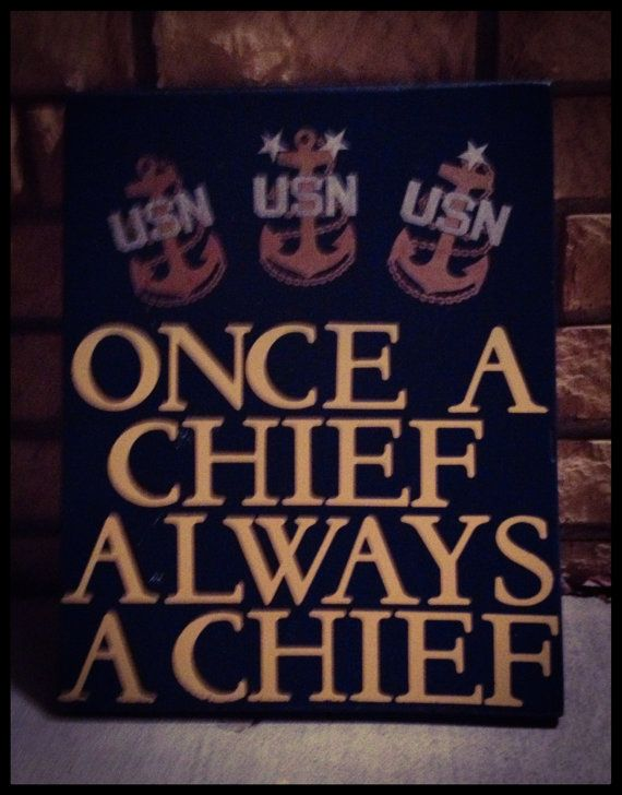 Navy Chief Hand Painted Signs by WhereTheAnchorDrops on Etsy, $38.00