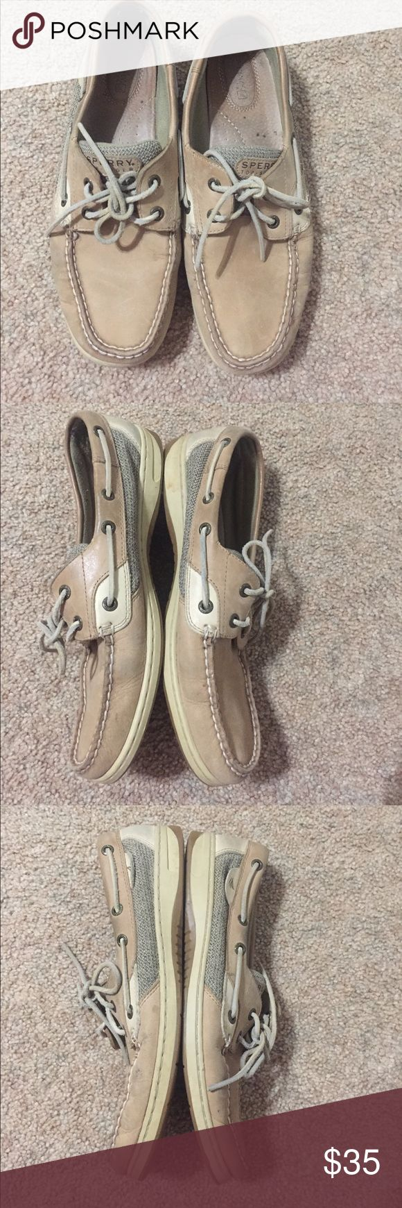 Light Brown Sperry Top Siders Worn a few times, good condition. Another pair of darker sperrys on my page! Sperry Top-Sider Shoes