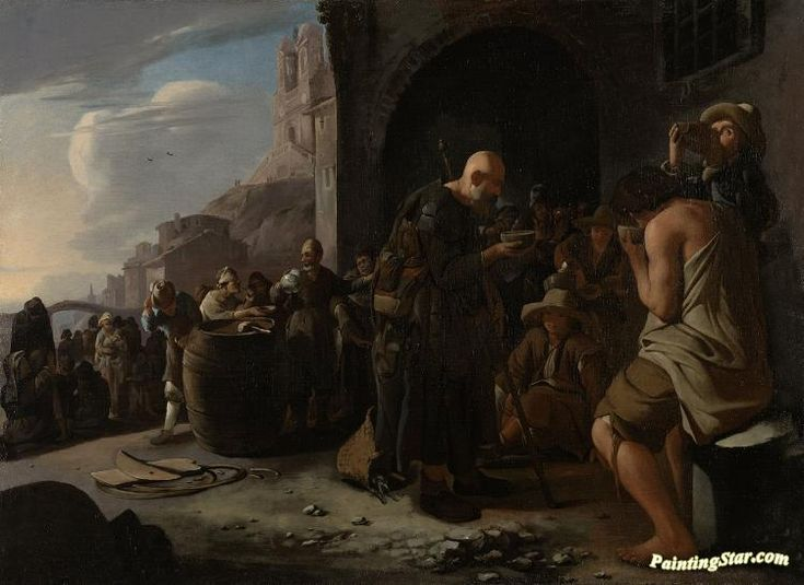 Refreshing the thirsty Artwork by Michael Sweerts Hand-painted and Art Prints on canvas for sale,you can custom the size and frame