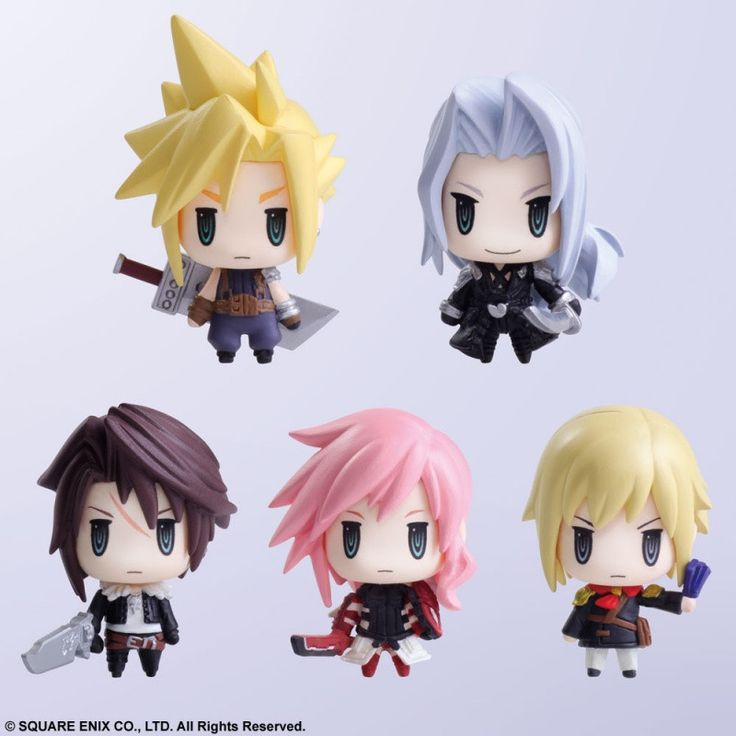 - Popular characters CLOUD STRIFE, SEPHIROTH (FINAL FANTASY VII), SQUALL LEONHART (FINAL FANTASY VIII), LIGHTNING (FINAL FANTASY XIII), and ACE (FINAL FANTASY TYPE-0) make an appearance as super-defor