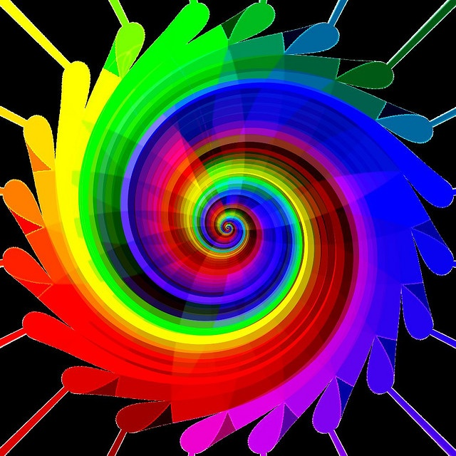 Rainbow swirl art, By Marco Braun