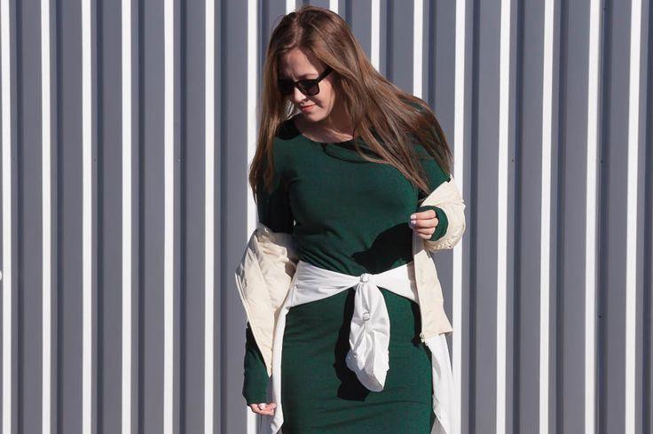 Emmy's Life - MOSS GREEN DRESS #outfit #fashionblog #finland #finlandssvensk
