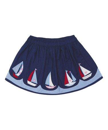 Love this Navy Sailboat Skirt - Infant, Toddler & Girls on #zulily! #zulilyfinds