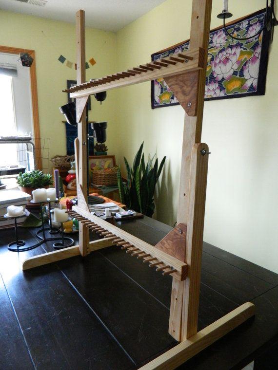 Adjustable Rug Twining Loom 24 x 36 by LaughingFrogGardens