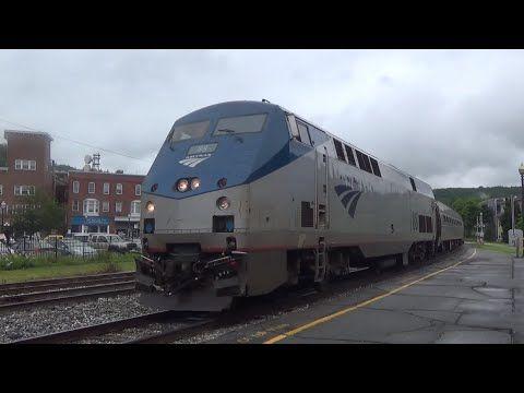 Amtrak 55 Vermonter Arrives in White River Junction, VT - YouTube