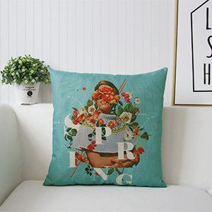 Garden Vintage Style Cheap Sofa Cushion Covers For Seat Pillow Cases Cheap  Decorative Pillow Covers Housse