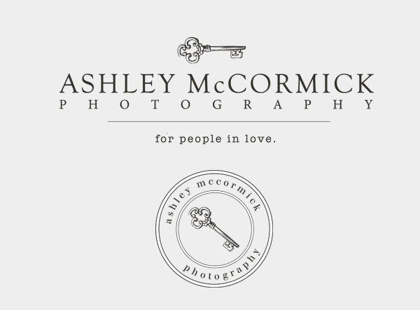 AshleyMcCormickLogoDesign   By Leslie Vega Design  Beautiful Brand Design for Photographers   Vintage key logo and stamp/seal