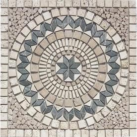 FLOORS 2000 Medallions Multi Colored Natural Stone Mosaic Indoor/Outdoor  Floor Tile (Common: