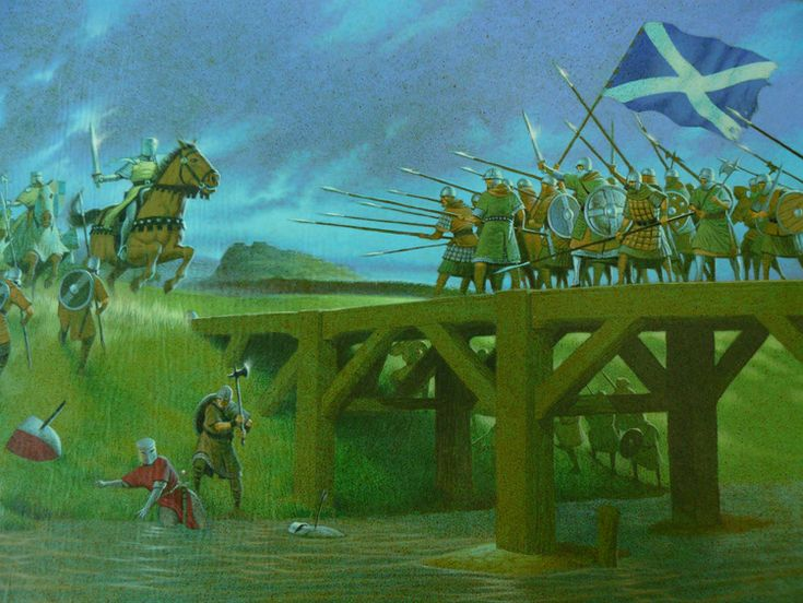Wallace fell into the River Forth during the Battle of the Stirling Bridge