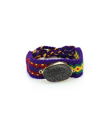Wayuu Armband met Edelsteen 110 - €39,95