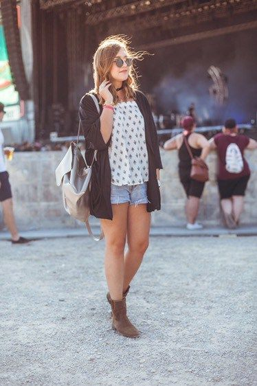 Festival Look for Frequency Festival with Tezenis Vintage Levi's Shorts Isabel Marant Boots