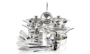 Groupon - Wolfgang Puck Every Day Essentials Bistro Elite Cookware Set (18-Pc.). Groupon deal price: $189.99