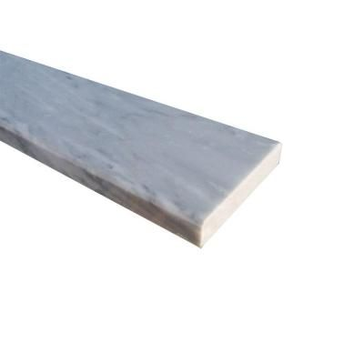 ms international white double bevelled threshold 4 in x