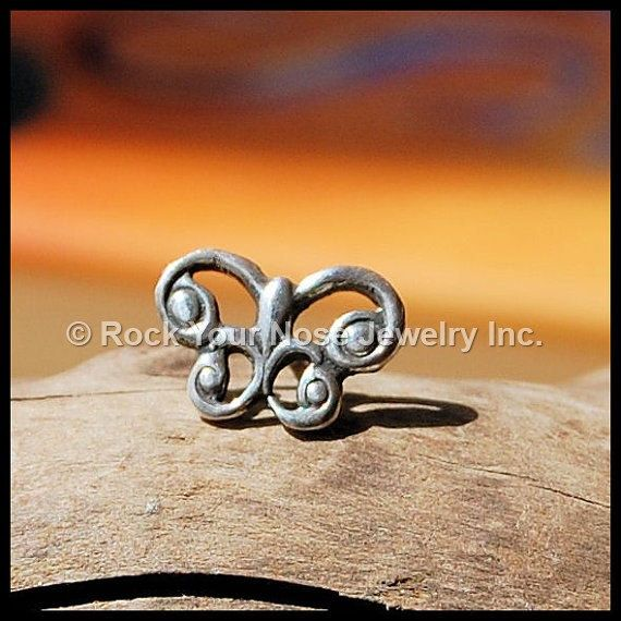 Hey, I found this really awesome Celtic Butterfly Nose Stud, sterling at https://www.etsy.com/listing/100725796/celtic-butterfly-nose-stud